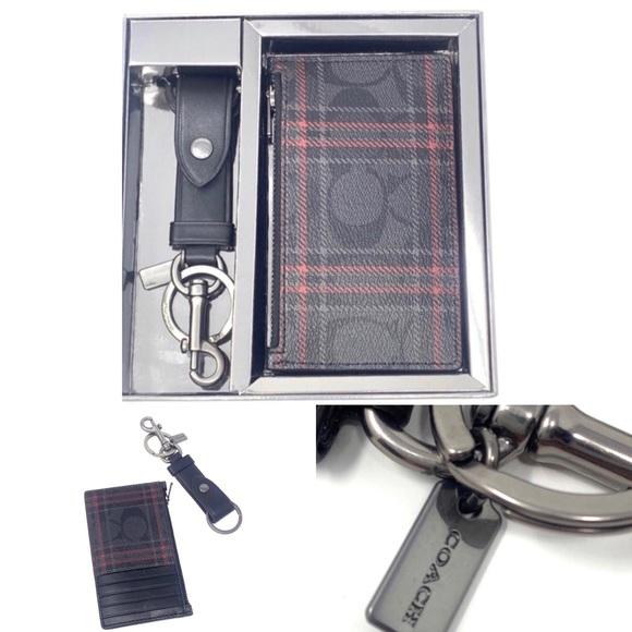Coach Signature Card Case Key Fob Box Set